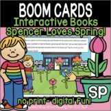 Spencer Loves Spring! - Interactive Boom Card Books