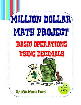 Math Project - Spend A Million Dollars - Decimal Review