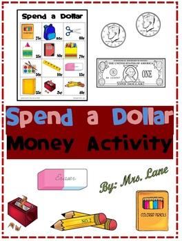 Spend a Dollar Money Activity