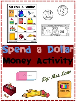 Spend a Dollar Money Activity