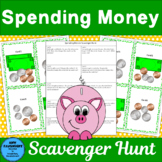 Spending Money Scavenger Hunt 2-step problem solving (2 activities)