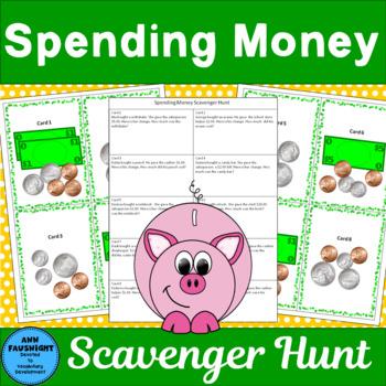 Spending Money Scavenger Hunt 2-step problem solving (2 ac