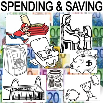 SPENDING AND SAVING - 3 activities, test, And Center
