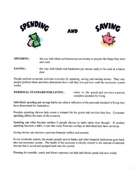 Spending & Saving Lesson
