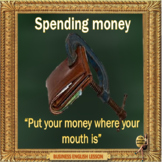 Spending money - ESL adult and kid conversation power point lesson