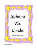 Sphere VS. Circle - a sorting shapes activity