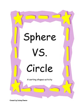 Sphere VS. Circle - a sorting shapes activity