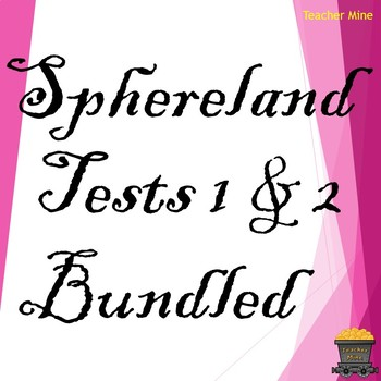 Sphereland Tests 1 & 2 Bundled