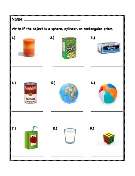 Spheres, Cylinders, and Rectangular Prisms