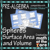 Spheres - Surface Area and Volume - GOOGLE Slides