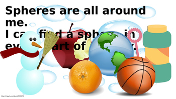 Spheres all Around Us - a booklet for lower reading levels