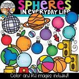Spheres in Everyday Life Clipart {Geometry Clipart}