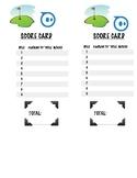 Sphero Mini Golf Scorecard