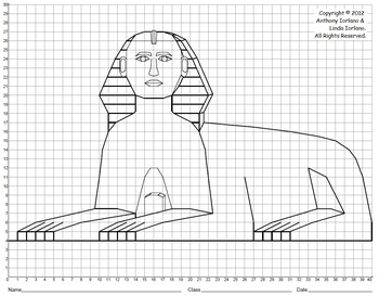 Sphinx, Ancient Egypt, Coordinate Graphing, Coordinate Drawing