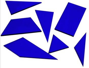 Van Hiele Tiles: 19th century puzzle, arrange bazillions of ways....