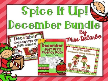 Spice It Up December Bundle (Reading, Writing, and Math)