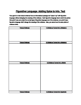 Spice It Up: Figurative Language With Info Text