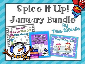 Spice It Up! January Bundle (Reading, Writing, and Math)