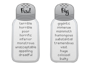 Synonym Saltshakers-- Spice Up Your Writing