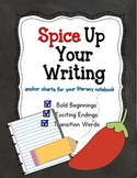 Spice Up Your Writing Anchor Charts