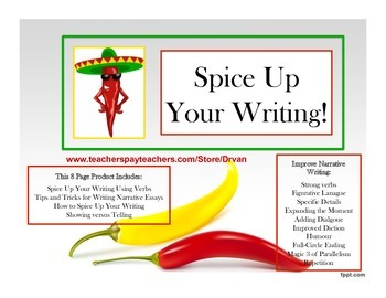 Spice Up Your Writing!  Narrative Tips and Tricks for Students