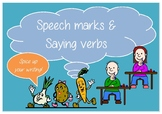 Spice up your Writing with Speech marks and Saying Verbs #