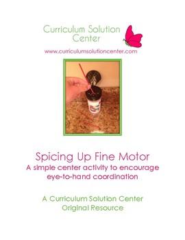 Spicing Up Fine Motor {Centers, PreK}