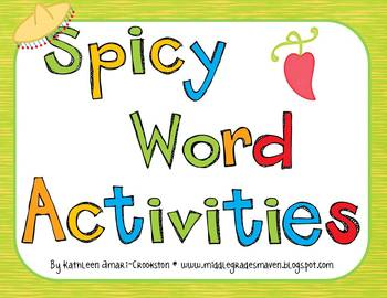 Spicy Word Activities: Synonyms, Antonyms, Connotation and