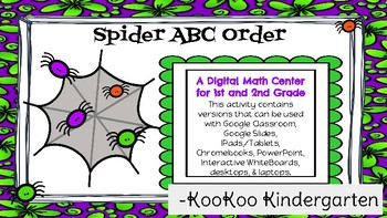 Spider ABC Order-A Digital Literacy Center