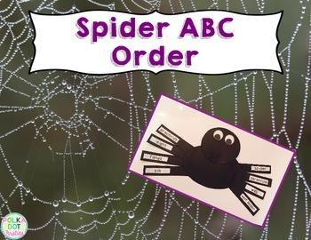 Spider ABC Order {FREE}