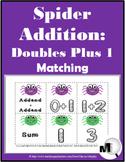 Doubles Plus One Addition - Spider Math - Autumn Activity