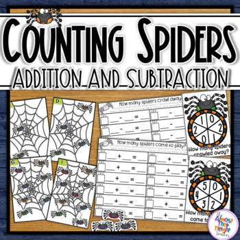 Spider Addition and Subtraction - a great class math center activity