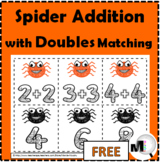Doubles Addition - Spider Math  - Doubles Facts