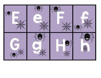 Spider Alphabet Flashcards: Upper and Lowercase