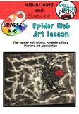 Spider Art Lesson - Halloween Art - Fall Art - Writing Prompts