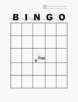 Spider BINGO Card