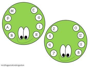 Spider Bingo--Letters/Numbers