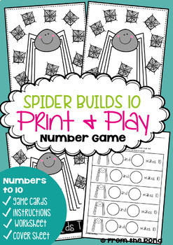 Math Games {Numbers to Ten} Spider Theme