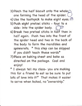 Spider Biscuits- a fun cooking project