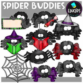 Spider Buddies Clip Art Bundle