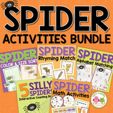 Spider Activities for Preschool & PreK | Halloween Literacy & Math Bundle