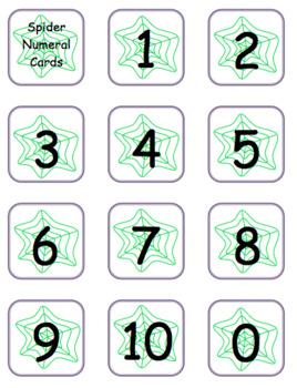 Spider Cards & Counting Mats: Halloween Math/Fall Math Fun