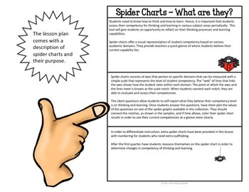 Spider Charts for Assessing Thinking Competency