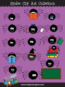 Spider Clip Art Collection