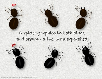 Spider Clip Art {Graphics for Personal or Commercial Use}