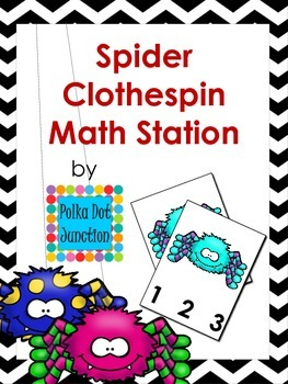 Spider Clothespin Math Station