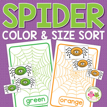 Color Matching and Size Sorting Spiders: Fall Activities f