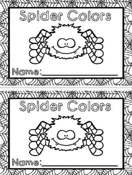 Spider Colors Mini Book (A Halloween/October Dollar Deal)