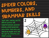 Spider Colors, Numbers, and Grammar Skills