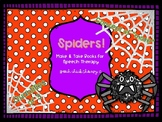 Spider Concept Books for Speech Therapy-Quantities